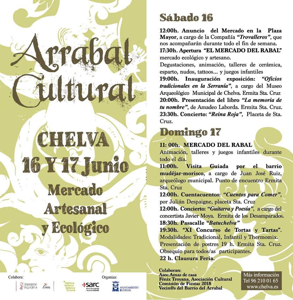 cartel arrabal cultural 2018- reina roja