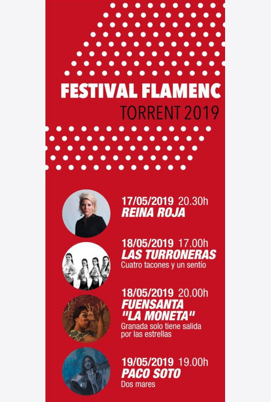 cartel festival flamenco torrent - reina roja