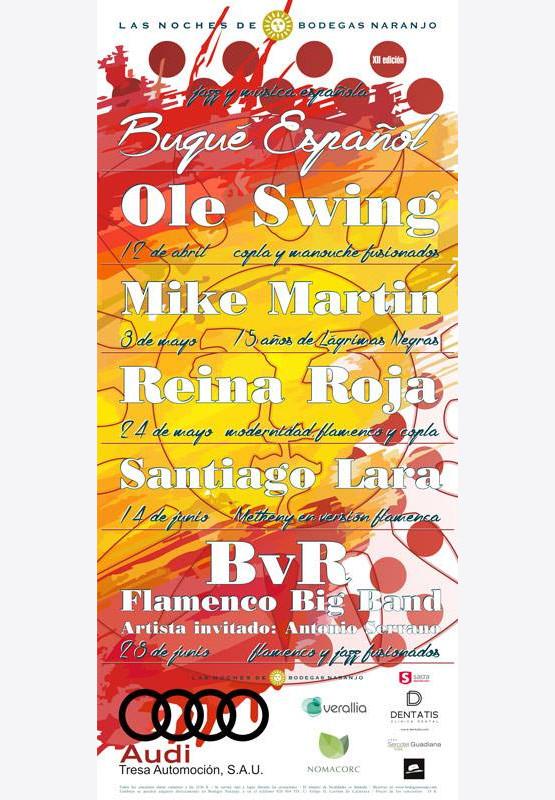 cartel noches bodega naranjo - reina roja